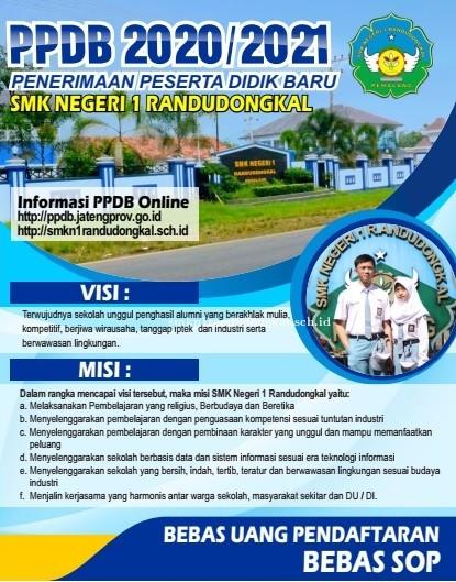 PPDB SMK Negeri 1 Randudongkal TA 2020/2021